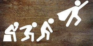 omuleti care urca o scara