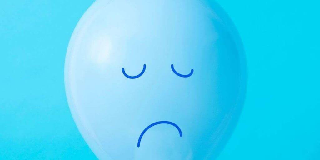 balon cu fata depresiva